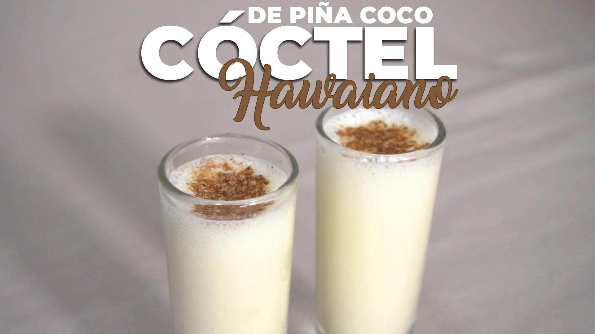 Cóctel Hawaiano con piña y coco