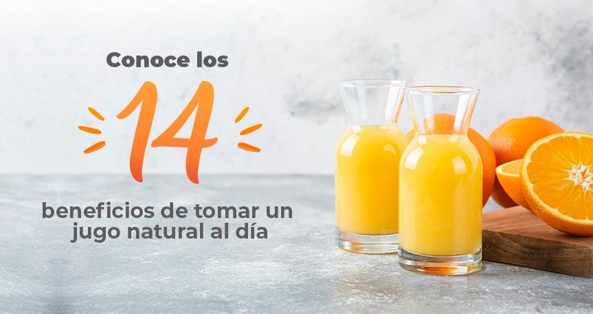 Conoce los 14 Beneficios de Beber jugo Natural